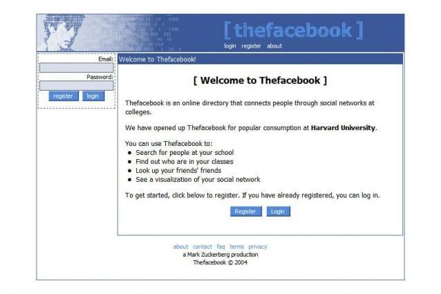 Facebook compie 15 anni: ecco com'era nel 2004 (quando nessuno lo conosceva)