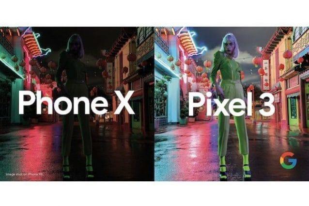 Google sfida Apple sulla fotografia notturna: le pubblicità mettono a confronto le foto